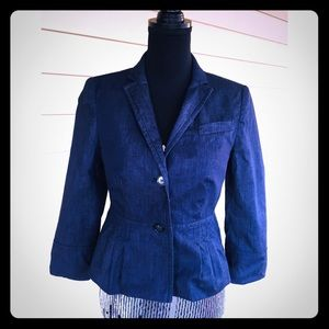 Loft Pleated Peplum Jacket
